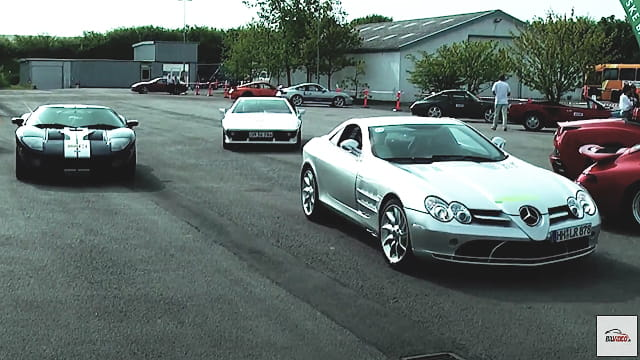 Superbiler til sportscar event på sjællandsringen 2010