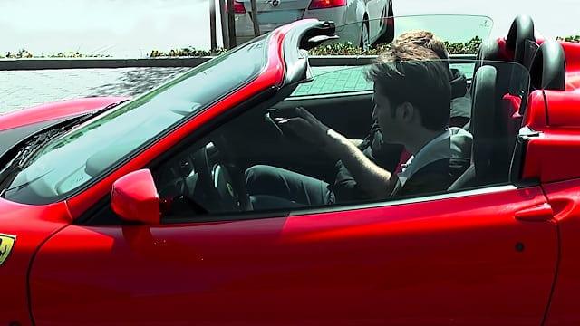 Prøvekører en Ferrari F430 Spider F1