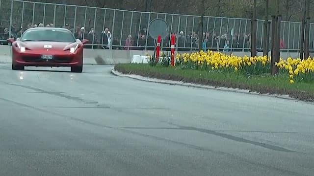 Ferrari 458 kører stærkt i Valby