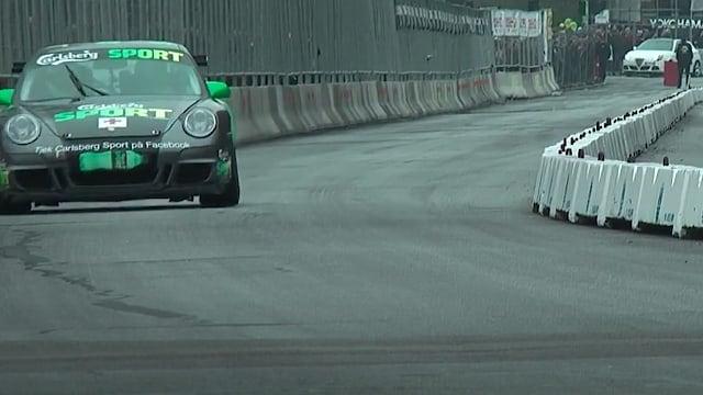 Lars Erik Nielsen i en Porsche 911 GT3 Cup - højdepunkter_