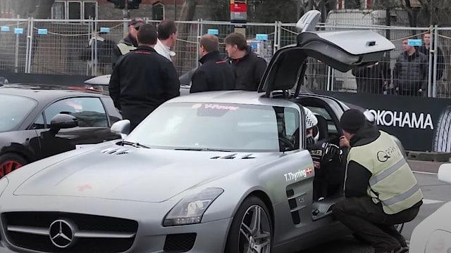 Thorkild Thyrring kører i en Mercedes SLS AMG til Racing Festival 2012