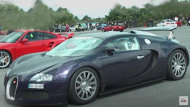 Bugatti Veyron 16.4 coupe på besøg i Resenbro til sportscarevent