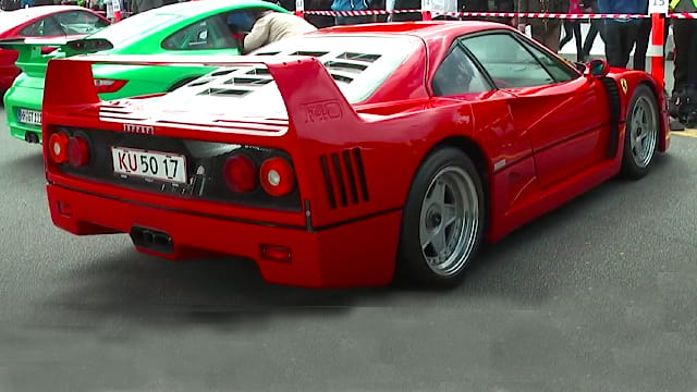 Ferrari F40 at Jyllandsringen - Sportscar Event 2012