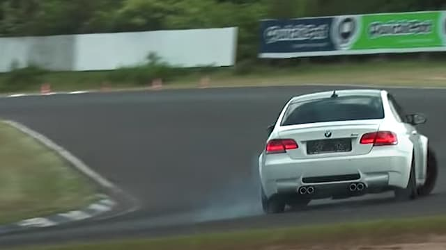 BMW drifting at Jyllandsringen - Sportscar Event 2013