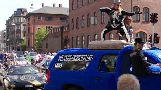Dudesons in Copenhagen with their Hairy Elephant Car - Gumball 3000
