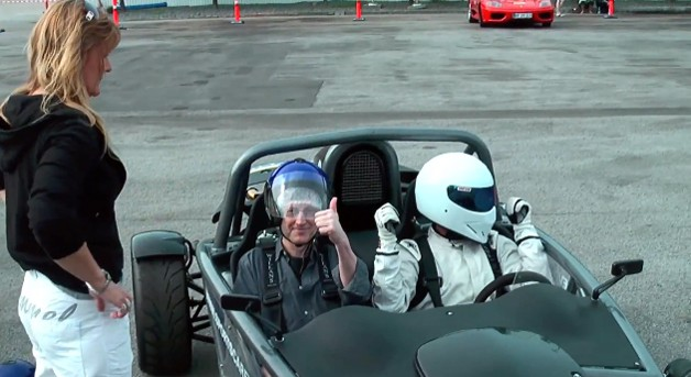 Driving with The Stig