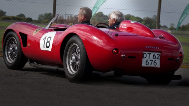 Supercars including a Ferrari 250 TR at Sportscar Event 2015 at Fyn