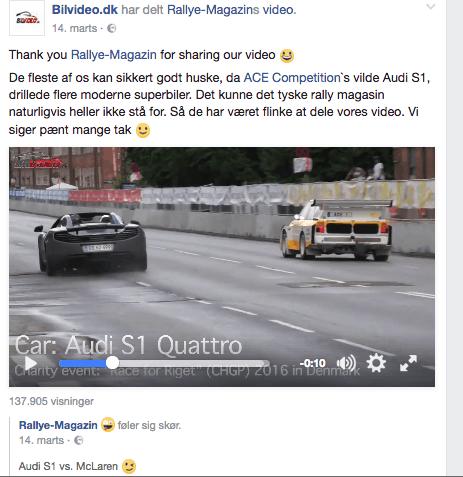 Audi S1 quattro set 137000 gange