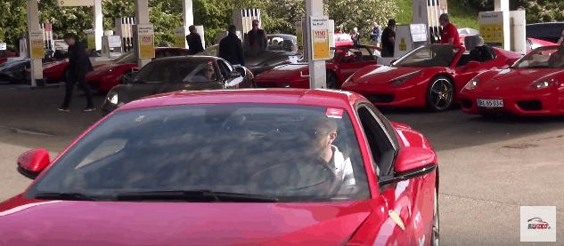 Ferrari tankning Rally Danimarca