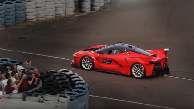 Ferrari FXX K at ring knutstorp in Sweden
