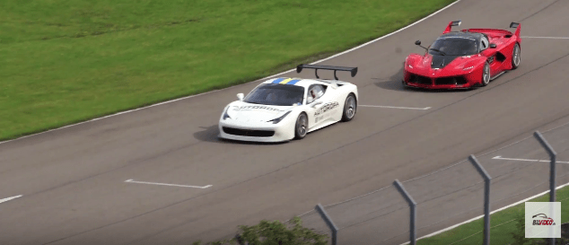 Ferrari FXX K dyster mod en Ferrari GT2